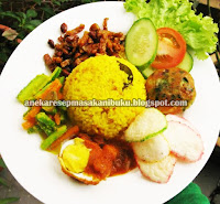 Resep Masakan, Nasi Kuning, Resep Nasi Kuning, Nasi kuning Komplit, Nasi kuning Restoran, Nasi Kuning Variasi