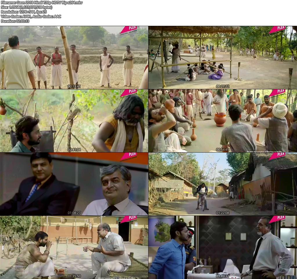 Gaon 2018 Hindi 720p HDTV Rip x264 | 480p 300MB | 100MB HEVC Screenshot