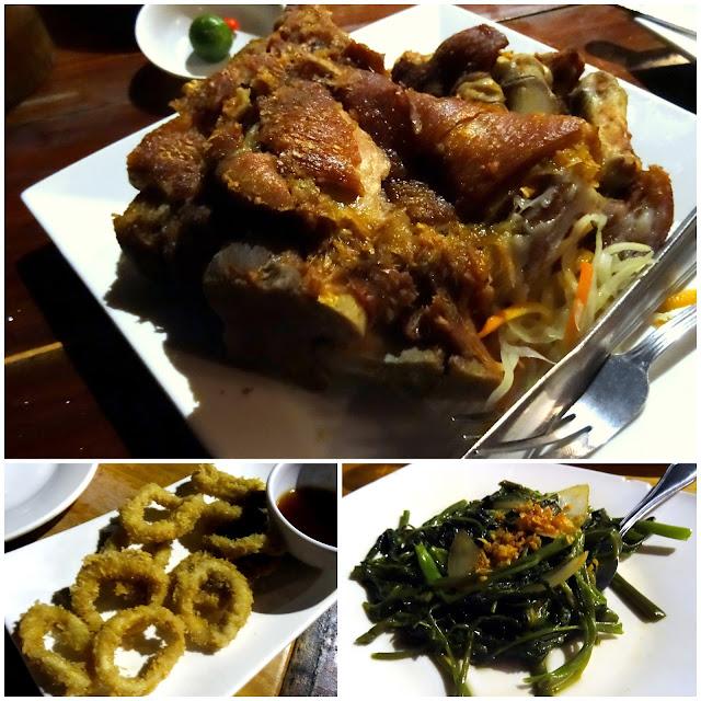 Crispy Pata Adobong Kangkong Squid Rings Lantaw Busay