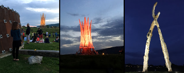 "Sculpture Fields ""Sculpture Burn"" Event, Chattanooga, TN"