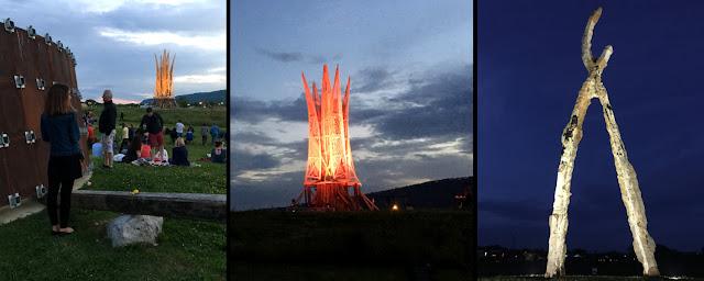 """Sculpture Fields """"Sculpture Burn"""" Event, Chattanooga, TN"""
