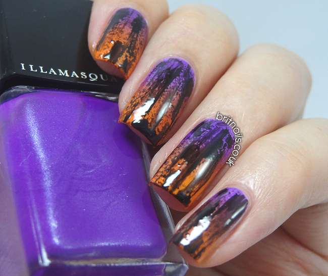 Distressed Halloween Gradient | Brit Nails