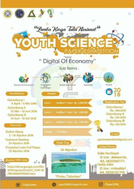 Lomba Paper Youth Science Competition Mahasiswa UNAIR 2018