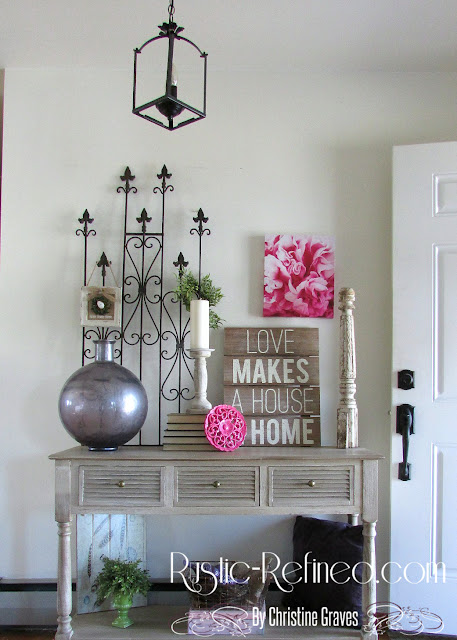 Using farmhouse and rustic touches of home decor for Spring
