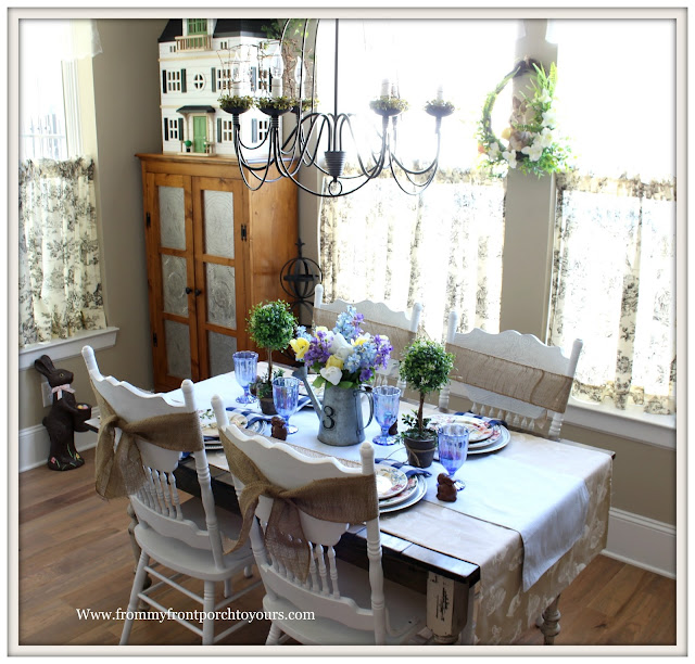 Spring-Easter-Tablescape-Cottage-Farmhouse-French Country-French Famrhouse-From My Front Porch To Yours