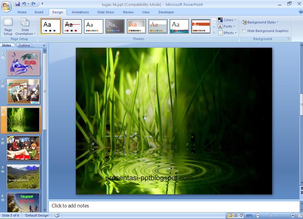 Membuat Background Slide Dengan Gambar  Tutorial Power