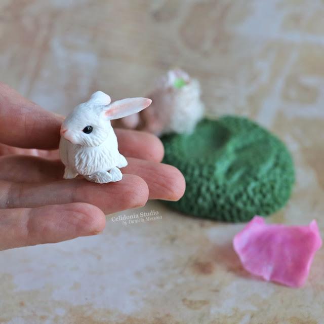 Coniglietto miniatura in polymer clay