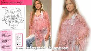 3 ideas para tejer ponchos al crochet