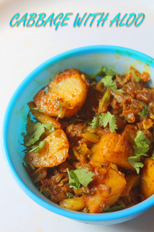 YUMMY TUMMY: Cabbage with Potato Curry Recipe - Cabbage Aloo Sabzi ...