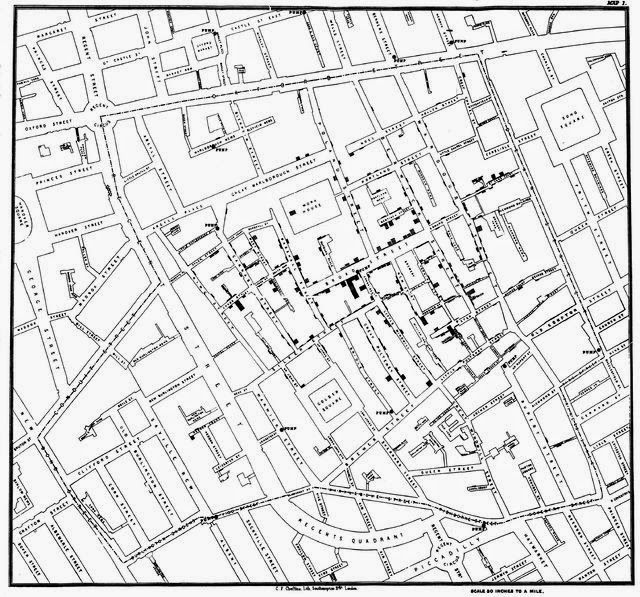 Jogh Snow Cholera Map - Data Journalism Story