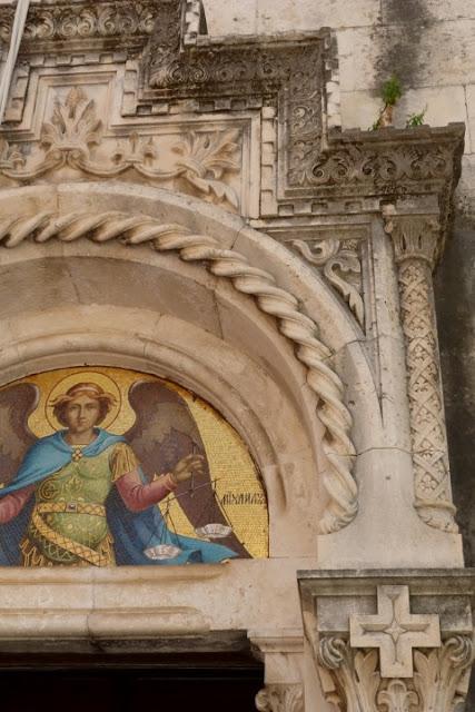 Montenegro, Herseq Novi, detail van kerk