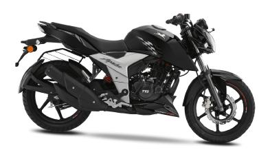 New 2018 TVS Apache RTR 160 4V Black edition