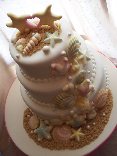 starfish wedding cake