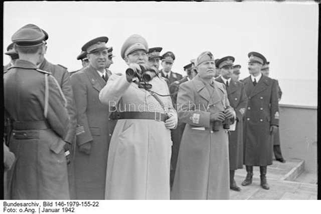 Hermann Goering and Mussolini at Furbara Airfield, 25 January 1942 Worldwartwo.filminspector.com