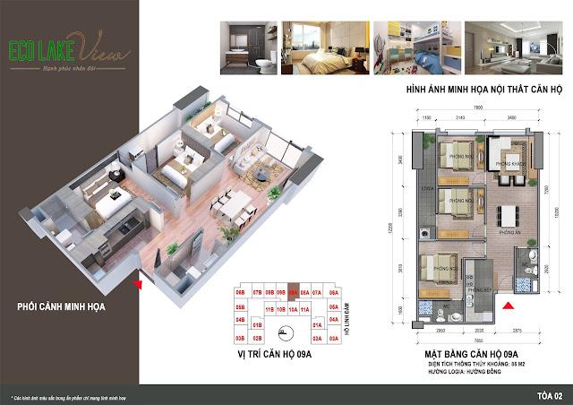 Thiết kế căn hộ 09A chung cư Eco Lake View