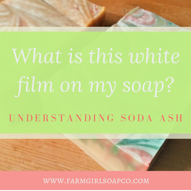 Wondering why your homemade soap turns white on the tops and the sides? It's called soda ash. Here's what causes it and how to prevent it.