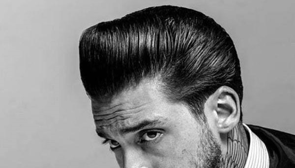 Pompadour Greaser Male Rockabilly Hair Cut