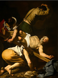 Caravaggio's The Crucifixion of St Peter