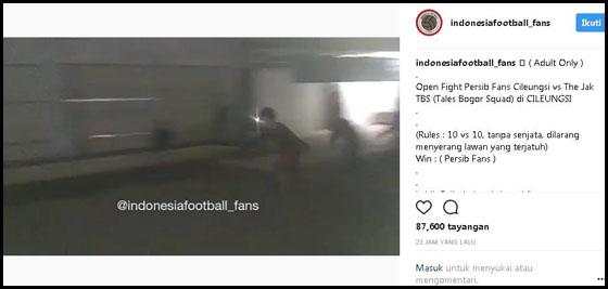Viral! Video Duel 10 Vs 10 Yang Diduga Supporte Persib dan Persija