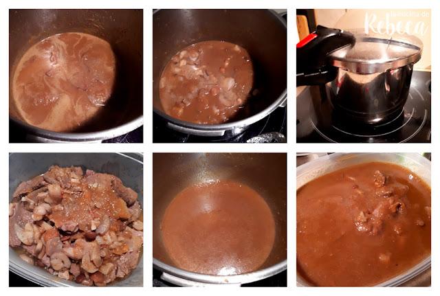 Receta de filetes salseros con champiñones 03