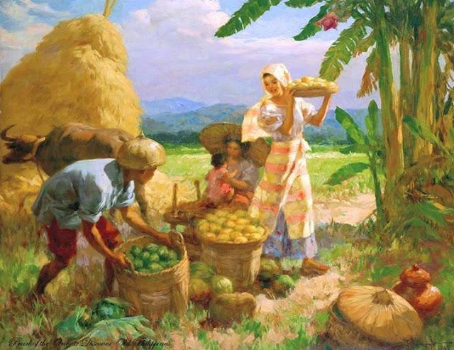 Fernando Amorsolo - Family Gathering Fruit