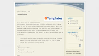 Curves Blue Blogger Template