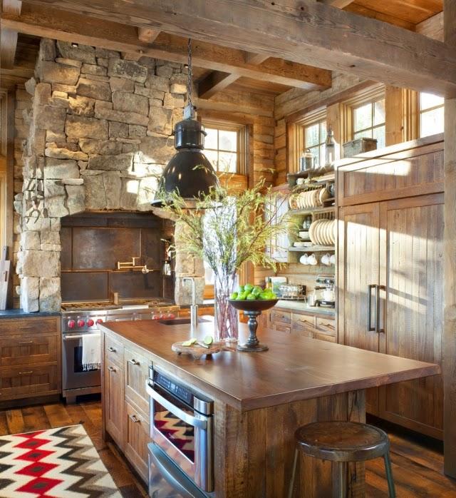 decoración cocina rústica