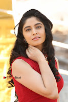 Telugu Actress Zahida Sam Latest Pos in Red Gown at RF Films New Movie Opening  0012.JPG