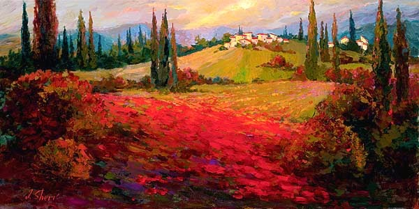 Vista do Campo - Irene Sheri e suas românticas pinturas