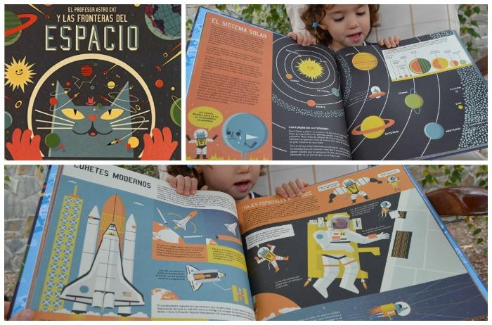 cuentos infantiles, libros conocimientos informativos profesor astro cat y fronteras espacio