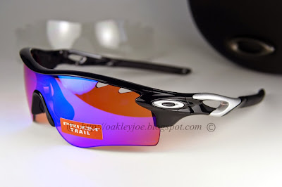 oakley radarlock path vs pitch m1ud  lens pre coated with Oakley hydrophobic nano solution complete set with  box, case, microfiber pouch and extra nose piece OO9181-40 Radarlock Path