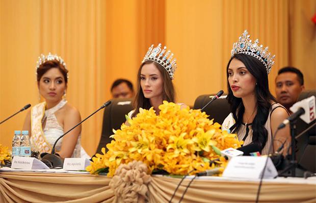 Conférence de presse pour Miss Global 2016 et Miss Khméro-Américains
