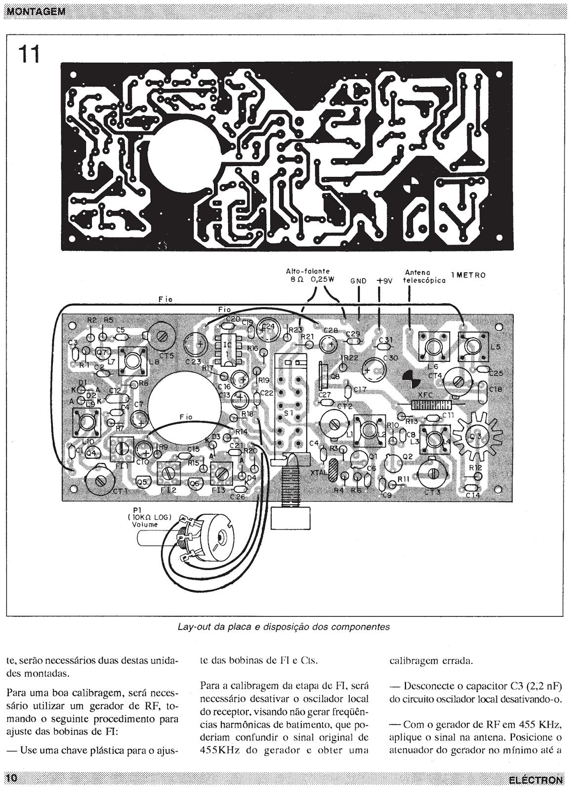 esquemas projetos eletr u00f4nicos   transceptor cb 27 mhz am