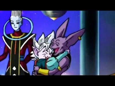 Bills y el Kaioshin también lo celebran abrazándose