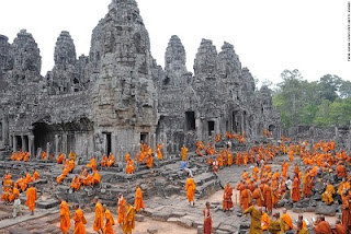 Bayon Temple Which Is Also Located In The City Of Angkor Cambodia Was Built 12th Century During Reign King Jayavarman Iv