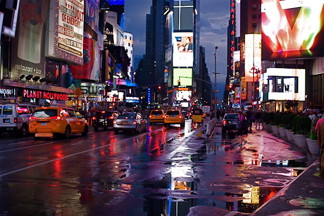 Nyc Nyc Times Square After The Rain