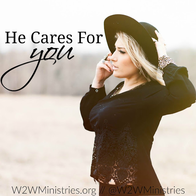 He cares for you. #peace #prayer #worry #Godcares