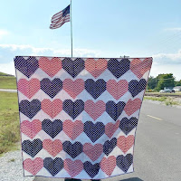 Heart quilt for USS John S McCain