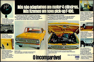 Pick-up Ford F-100; caminhão Ford anos 70; Ford brazilian truck in the 70's; pick-up Ford; Ford.  reclame de carros anos 70. brazilian advertising cars in the 70. os anos 70. história da década de 70; Brazil in the 70s; propaganda carros anos 70; Oswaldo Hernandez;
