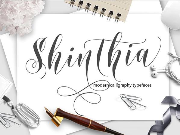 Shinthia Script Layers Font Free Download
