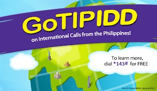 Globe Tipid International Calls with GoTIPIDD Discounted Per-Minute Rates IDD Calls Promo