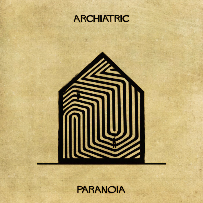 16 Mental Disorders Illustrated Through Architecture - Paranoia