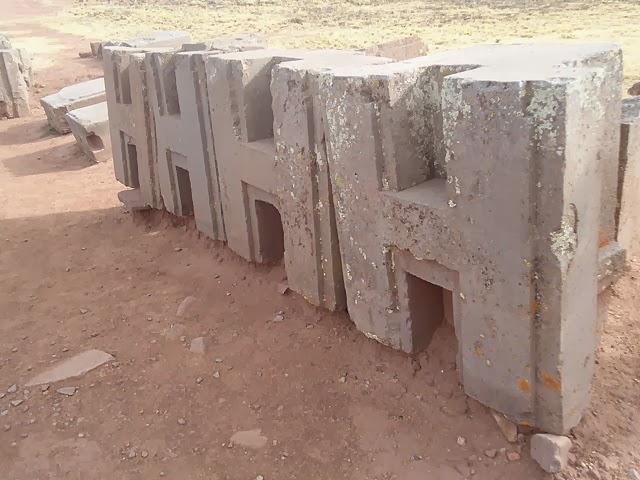 H shaped block, Puma Punku, Bolivia