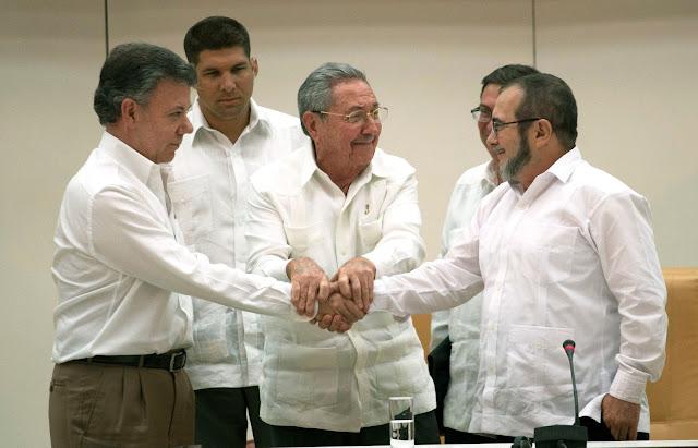 Santos vendio a Colombia a las FARC
