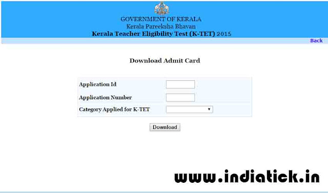 Kerala TET hall ticket download