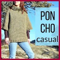 Poncho casual crochet