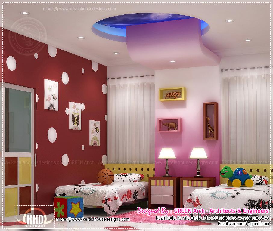 House Interior Design In KeralaBedroom Interior Designs Hall