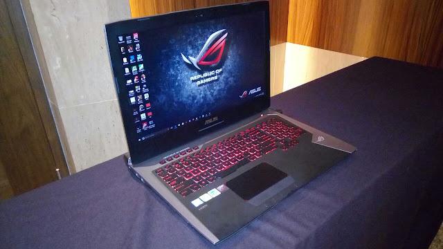 ASUS ROG G752VS, Notebook Gaming Tangguh Berteknologi Processor Intel Core i7 610HQ