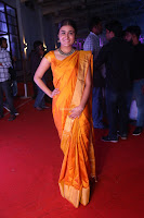 Shalini Pandey in Beautiful Orange Saree Sleeveless Blouse Choli ~  Exclusive Celebrities Galleries 002.JPG