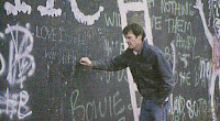 Neil Young at Berlin Wall 1982